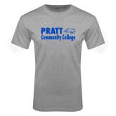 Grey T Shirt-Pratt Community College w/ Beaver Head