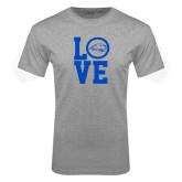 Grey T Shirt-LOVE