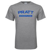 Grey T Shirt-Arched Pratt Wrestling
