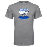 Grey T Shirt-Beaver Wresting USA