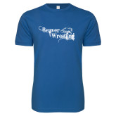 Next Level SoftStyle Royal T Shirt-Beaver Wrestling Distressed