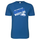Next Level SoftStyle Royal T Shirt-Pratt Community College Wrestling
