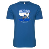 Next Level SoftStyle Royal T Shirt-	Beaver Wresting USA