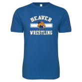 Next Level SoftStyle Royal T Shirt-Old School Wrestling Beaver