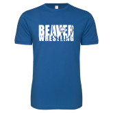 Next Level SoftStyle Royal T Shirt-	Beaver Wrestling Mat