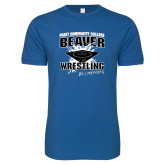 Next Level SoftStyle Royal T Shirt-Beaver Wrestling Be Legendary