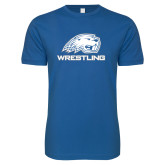 Next Level SoftStyle Royal T Shirt-Beaver head Wrestling