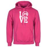 Fuchsia Fleece Hoodie-LOVE