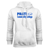 White Fleece Hoodie-Pratt Community College w/ Beaver Head