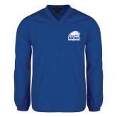 V Neck Royal Raglan Windshirt-Official Logo