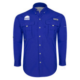 Columbia Bahama II Royal Long Sleeve Shirt-Official Logo