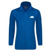 Ladies Fleece Full Zip Royal Jacket-Beaver Head