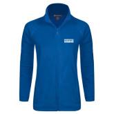 Ladies Fleece Full Zip Royal Jacket-Pratt Community College Beavers