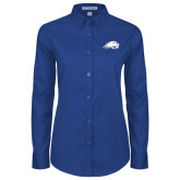 Ladies Royal Twill Button Down Long Sleeve-Beaver Head