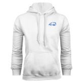 White Fleece Hoodie-Beaver Head