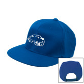 Royal Flat Bill Snapback Hat-Beaver Head