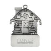 Pewter House Ornament-Pratt Community College Beavers Engraved