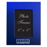 Royal Brushed Aluminum 3 x 5 Photo Frame-Pratt Community College Beavers Engraved