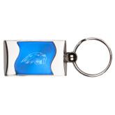 Silverline Blue Wave Key Holder-Beaver Head Engraved