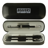 Black Roadster Gift Set-Pratt Community College Beavers Engraved