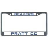 Metal License Plate Frame in Black-Beavers