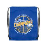 Royal Drawstring Backpack-2018 Womens Basketball Champions