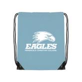 Light Blue Drawstring Backpack-Signature Mark