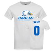 White T Shirt-Signature Mark, Custom Tee w/ Name and #