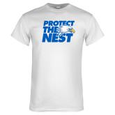 White T Shirt-Protect The Nest