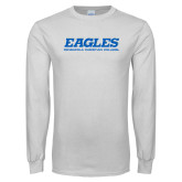 White Long Sleeve T Shirt-Eagles