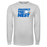 White Long Sleeve T Shirt-Protect The Nest