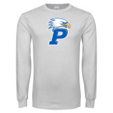 White Long Sleeve T Shirt-Eagle P Stacked