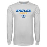 White Long Sleeve T Shirt-Soccer