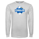 White Long Sleeve T Shirt-Soccer Shield