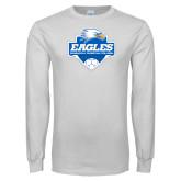 White Long Sleeve T Shirt-Soccer Shield