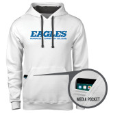 Contemporary Sofspun White Hoodie-Eagles