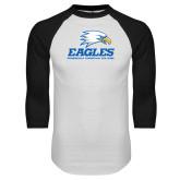White/Black Raglan Baseball T Shirt-Signature Mark
