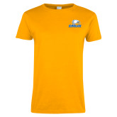 Ladies Gold T Shirt-Signature Mark