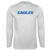 Syntrel Performance White Longsleeve Shirt-Eagles