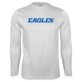 Performance White Longsleeve Shirt-Eagles