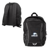 Atlas Black Computer Backpack-Signature Mark
