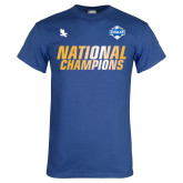 Royal T Shirt-2017 Mens National Champions Soccer