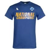Royal T Shirt-2017 Mens National Champions Soccer