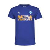 Youth Royal T Shirt-2017 Mens National Champions Soccer