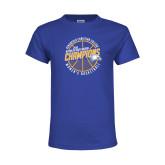 Youth Royal T Shirt-2018 Womens Basketball Champions