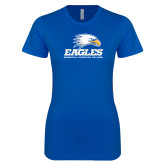 Next Level Ladies SoftStyle Junior Fitted Royal Tee-Signature Mark