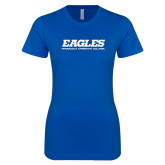 Next Level Ladies SoftStyle Junior Fitted Royal Tee-Eagles