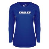 Ladies Syntrel Performance Royal Longsleeve Shirt-Eagles