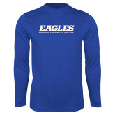 Syntrel Performance Royal Longsleeve Shirt-Eagles