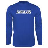 Performance Royal Longsleeve Shirt-Eagles